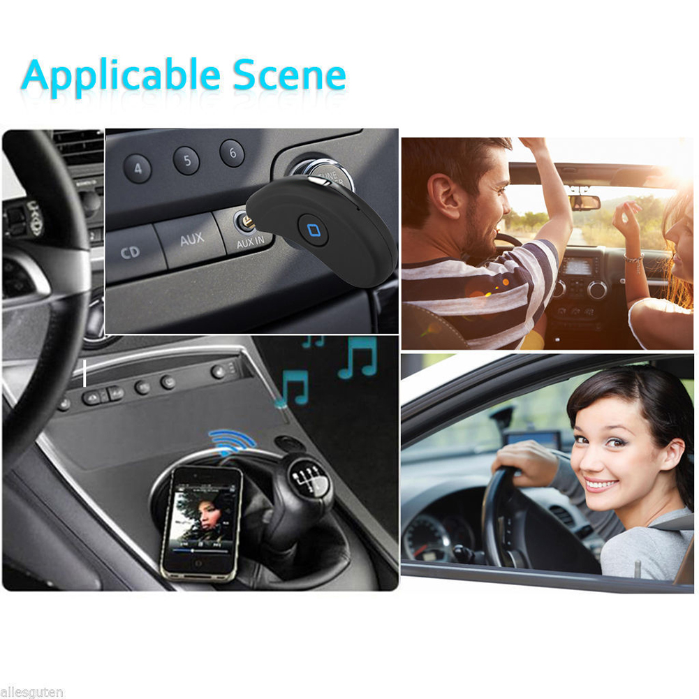 Wireless Bluetooth Receiver Adapter Car Kit 3.5MM Audio Stereo Music Home