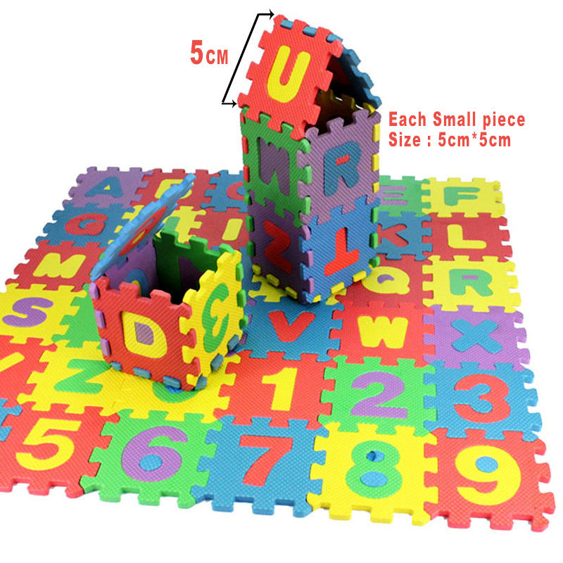 36 pcs Infant Kids Alphanumeric Educational Puzzle Blocks Child Foam Mat Toys