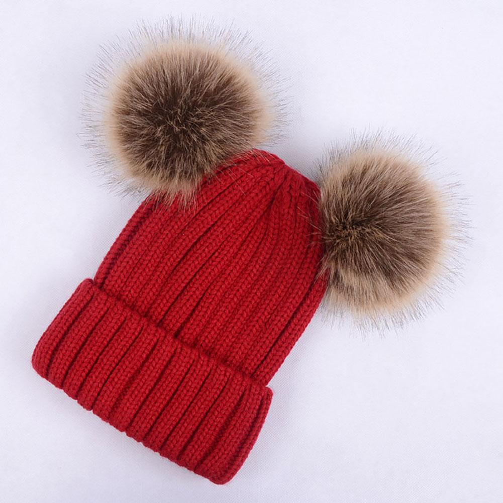 Womens Winter Warm Hat Wool Knit Beanie Beret Ski Ball Braided Crochet Cap Baggy