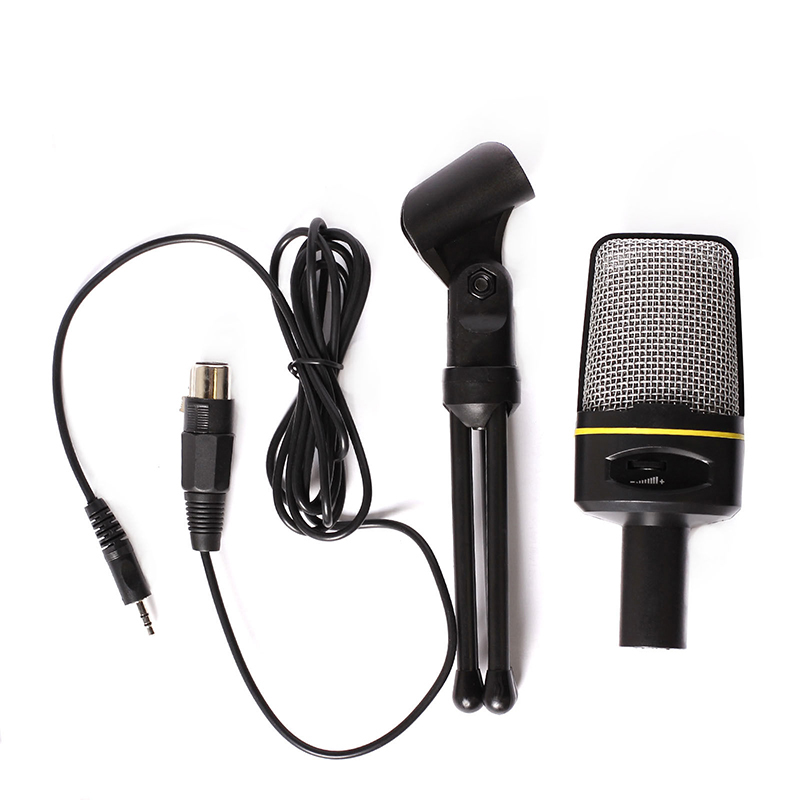 Professional Condenser Audio Microphone Mic Studio Sound Recording w/Shock Mount