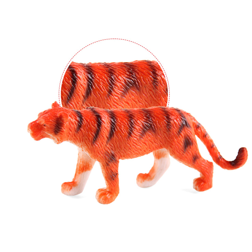12pcs Plastic Zoo Animal Figure Model Tiger Leopard Hippo Giraffe Kids Toy Set