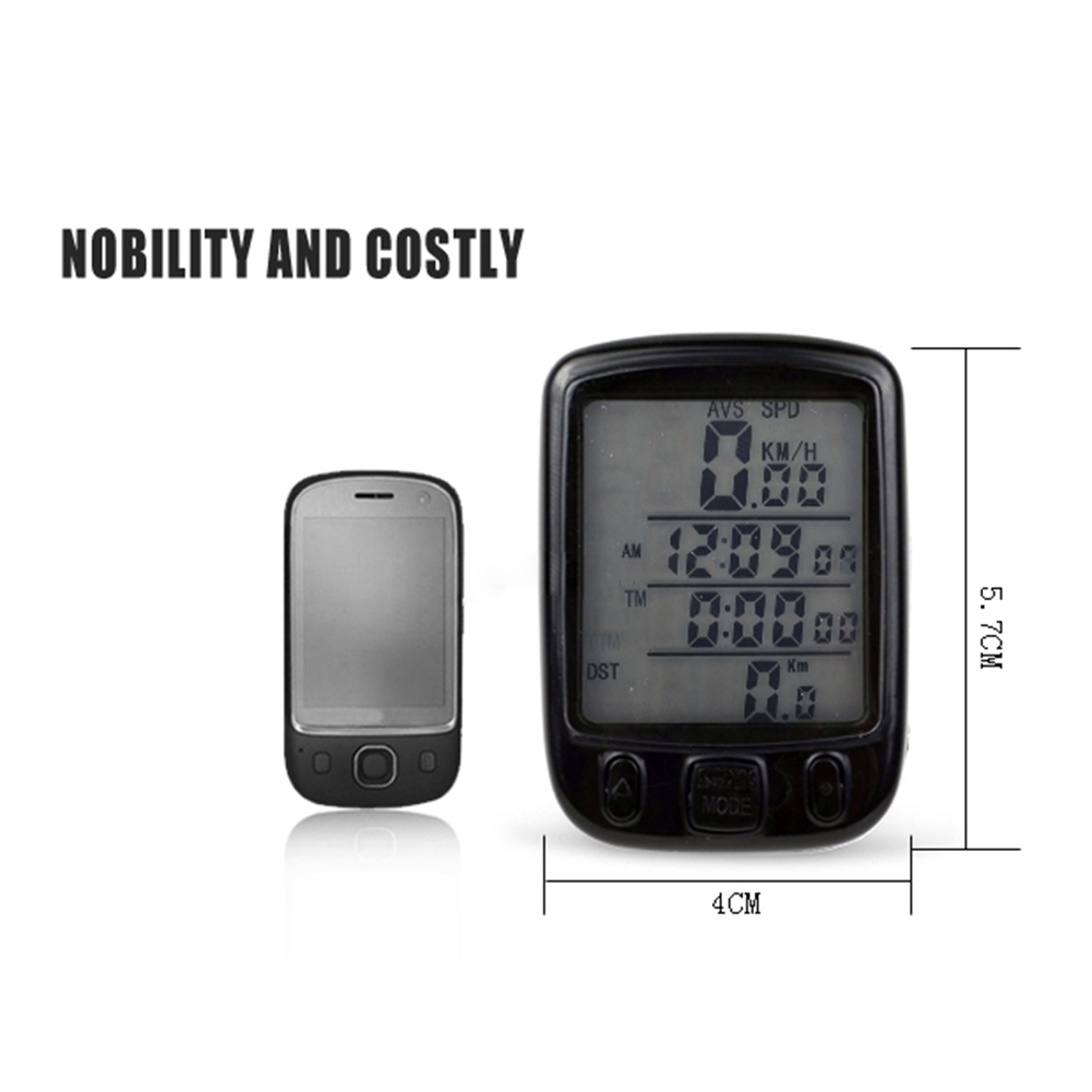 New Digital Bicycle Cycle Computer Bike Speedo Speedometer + Backlight