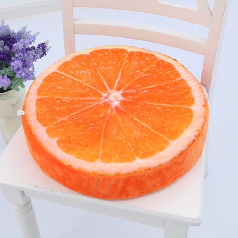3D Vivid Plush Foam Fruit Pillow Back Cushion Office Chair Sofa Bed Decor