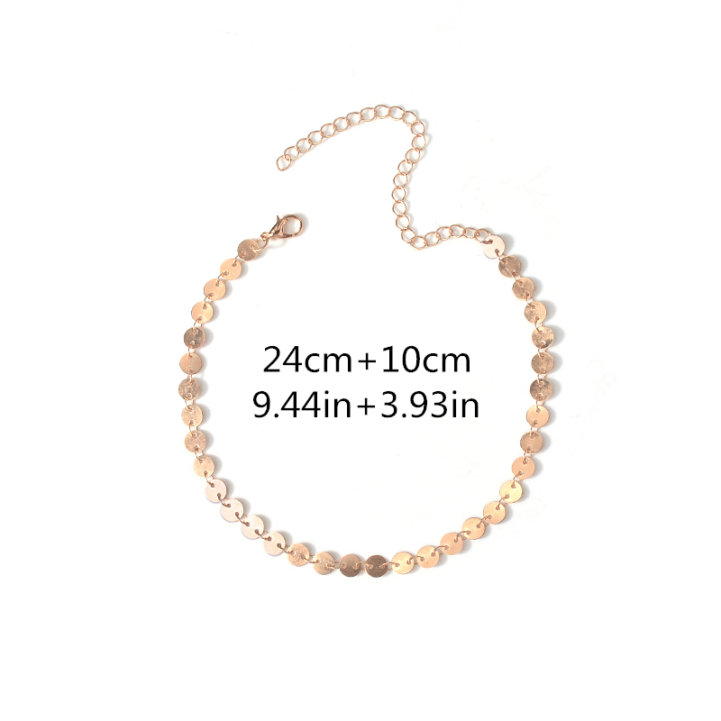 Fashion Beach Arm Bracelet Harness Slave Chain Simple Sequins Cuff Armlet Women Jewelry