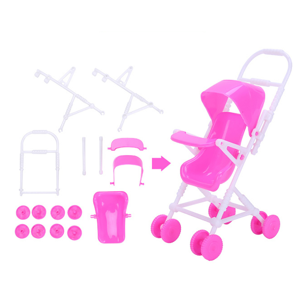 98 PCS/Set Barbie High Heels Kitchen Supplies Cleaning Tools Mirror Hanger Comb Necklace for Barbie Dolls Accessories Kids Gift