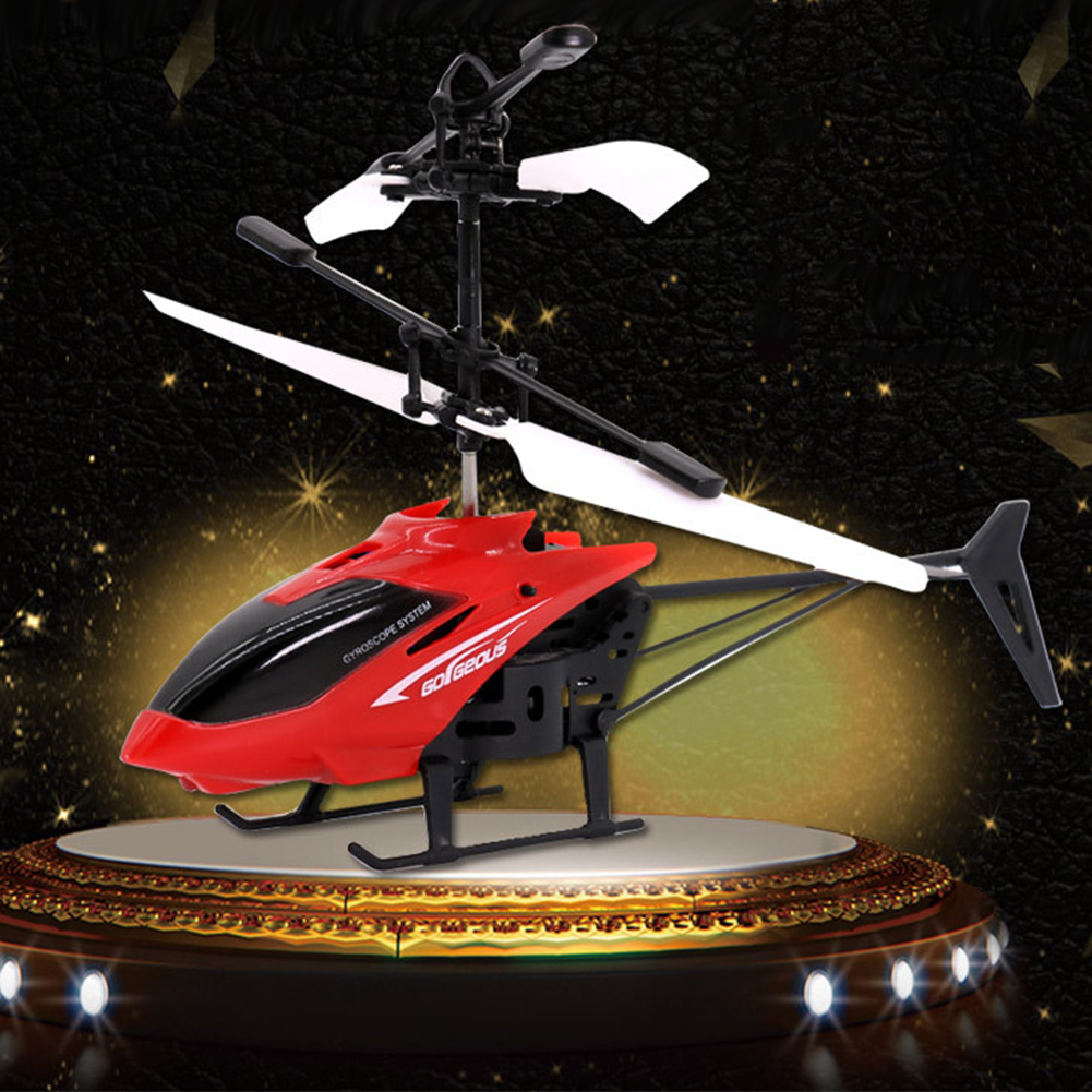 Small RC Helicopter Aircraft Radio Remote Control LED Kids
