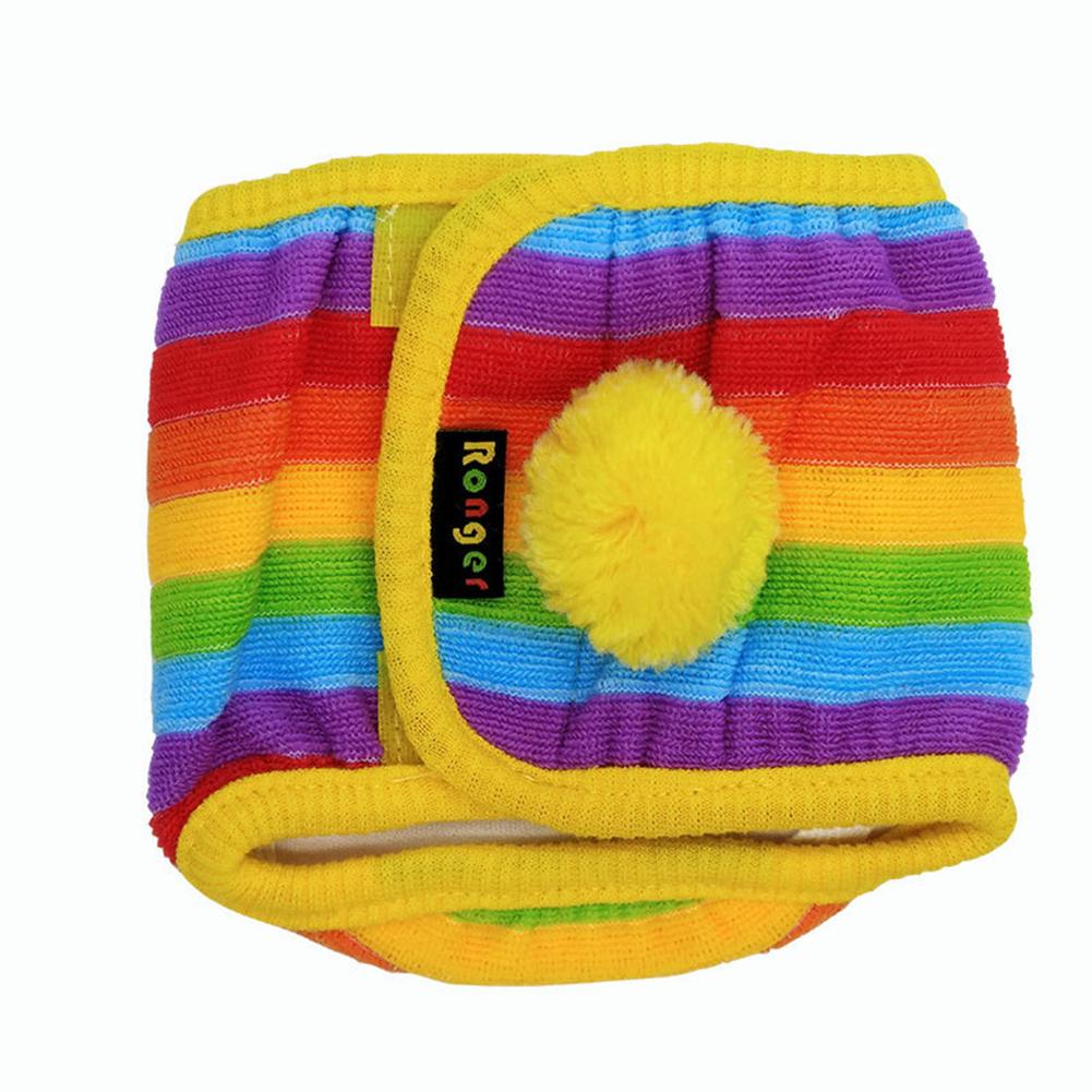 Dog Diaper Male Washalbe Durable Rainbow Dog Wraps Doggy Pants Pet Underwear