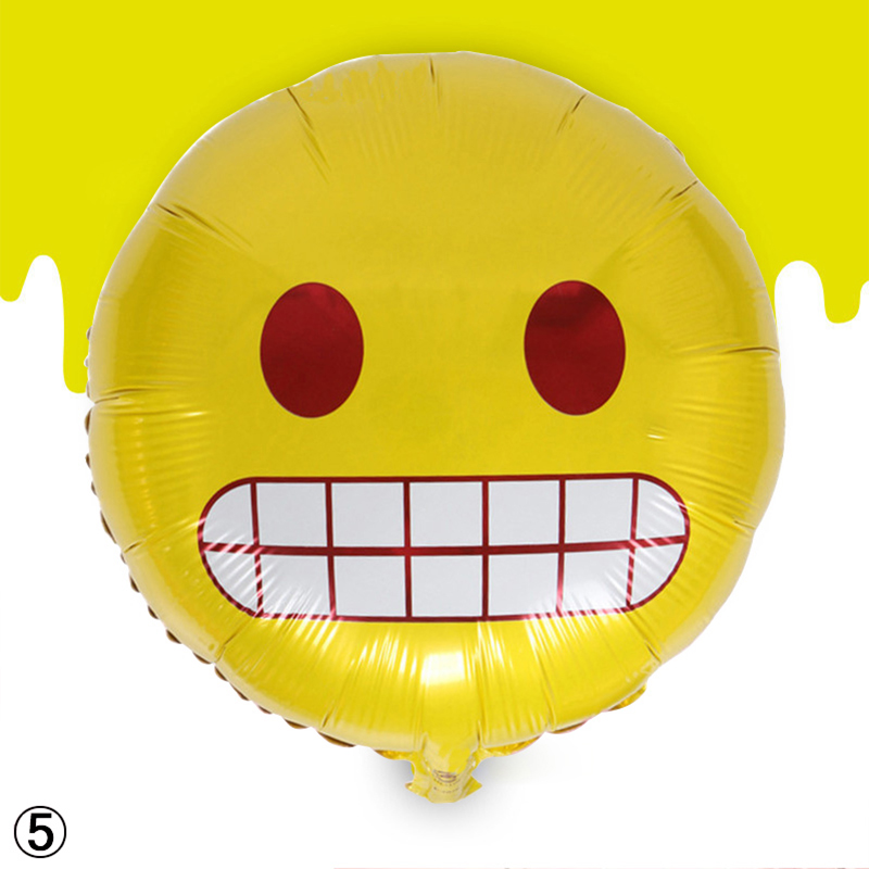 1/4/24pc Multi Pattern Emoji Foil Balloons Wedding Birthday Party Decoration