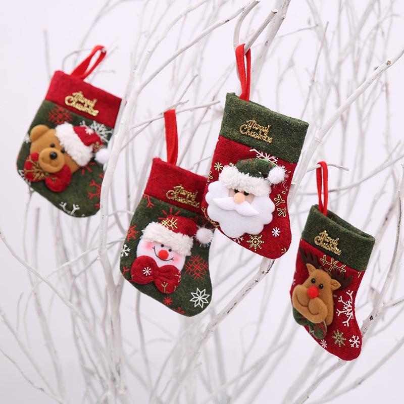 Christmas Socks Decor Santa Claus Christmas Stocking Knifes Folks Bag Candy Gifts Bag
