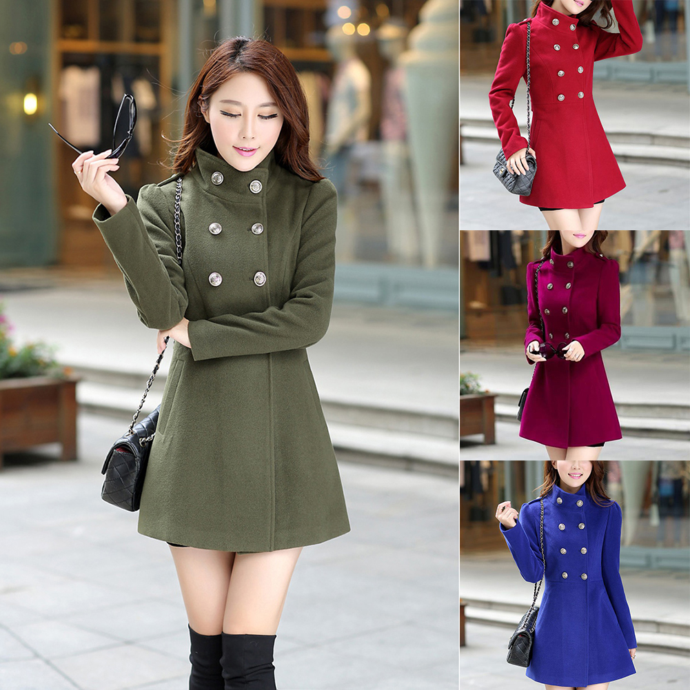 2017 Fashion Women Korean Long Coat Jacket Parka Windbreaker Slim Outwear Winter