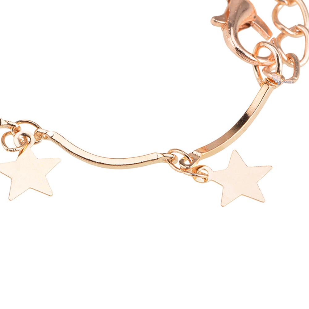 2017 Fashion Pentagram Star Gold Chain Choker Tassel Necklace Women Girl Jewelry Gift