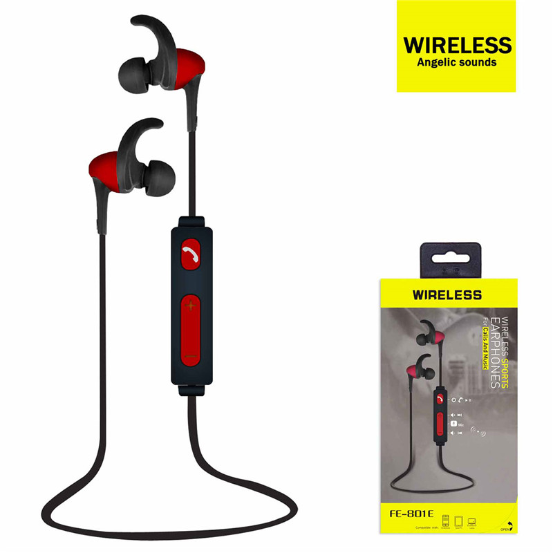 Universal Wireless Bluetooth In-ear Smart Stereo Angelic Sound Sports Headphones Earphones with Mic