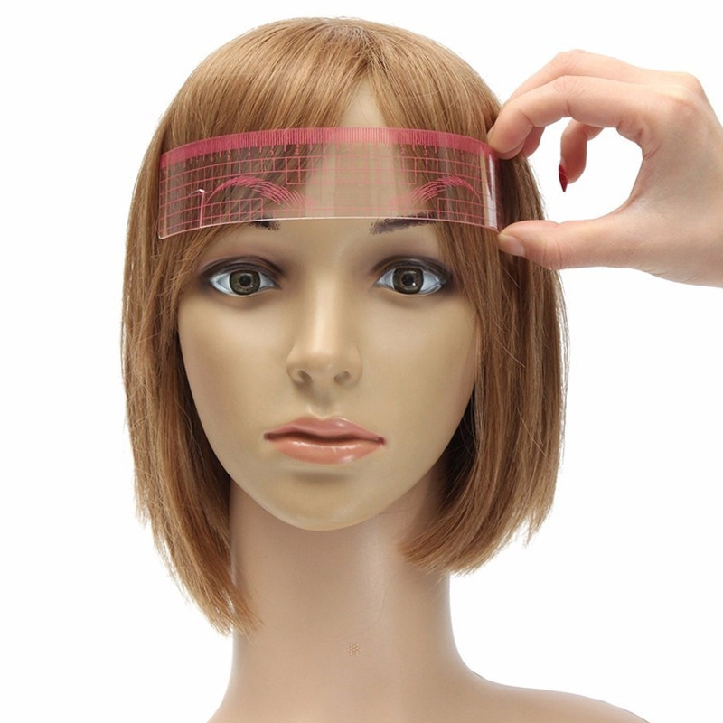 Eyebrow Stencil Makeup Reusable Measuring Shaper Tattoo Ruler Grooming Tool