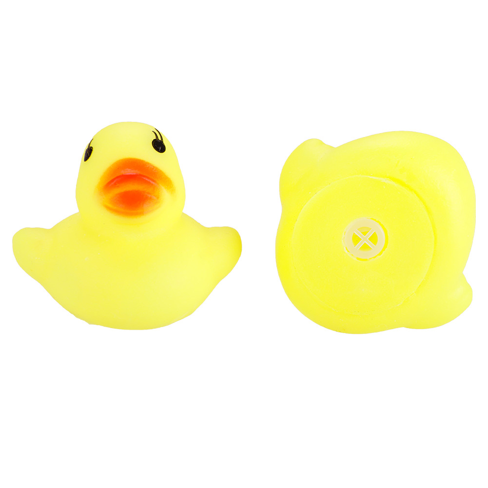 4pcs Baby Shower Rubber Squeaky Ducks Play Water Bathing Pool Tub Toys Set