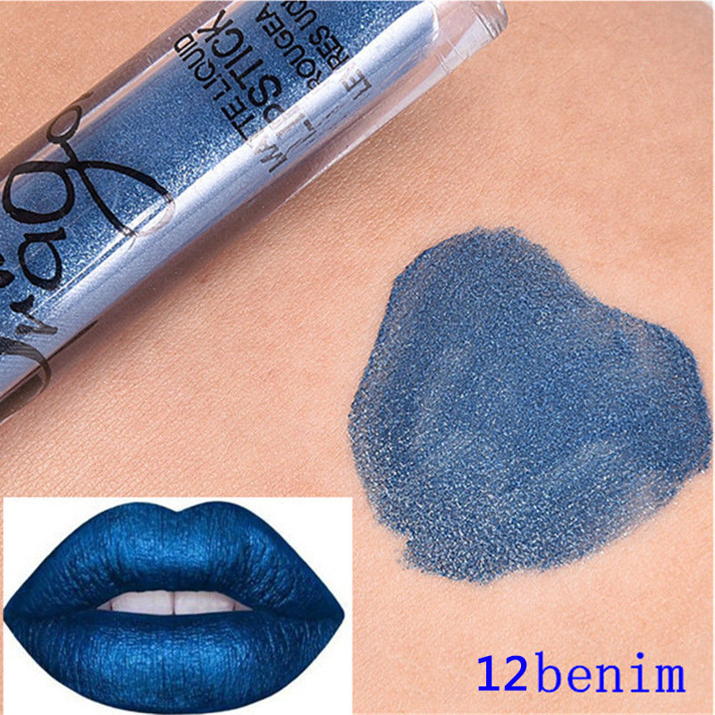New Makeup Long Lasting Matte Liquid Lipstick Lip Gloss Metals Lip Gloss 16 colors