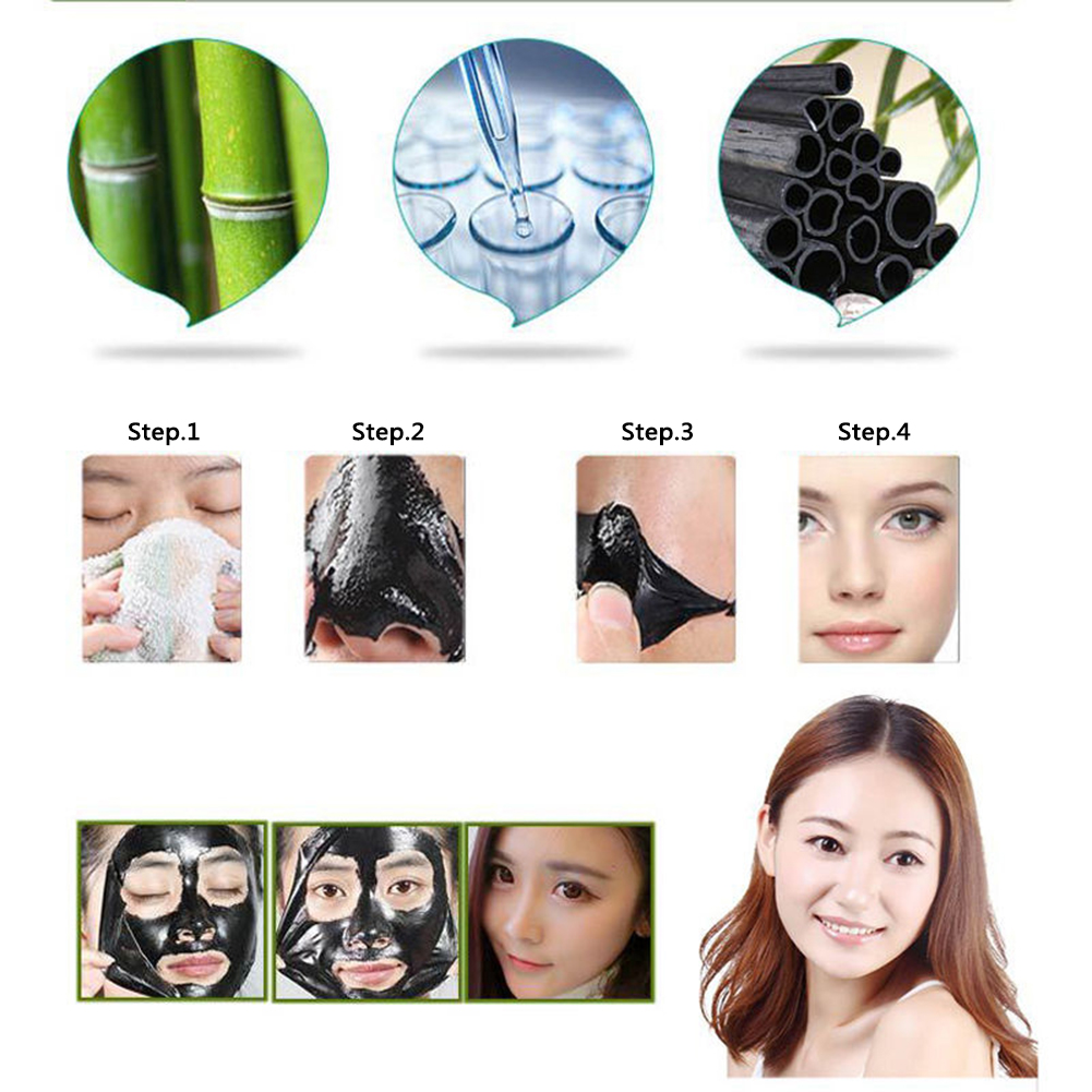 60g Trendy Hot Women Beauty Purifying Black Peel-off Blackhead Remover Facial Cleansing Charcoal Mask Skin Care