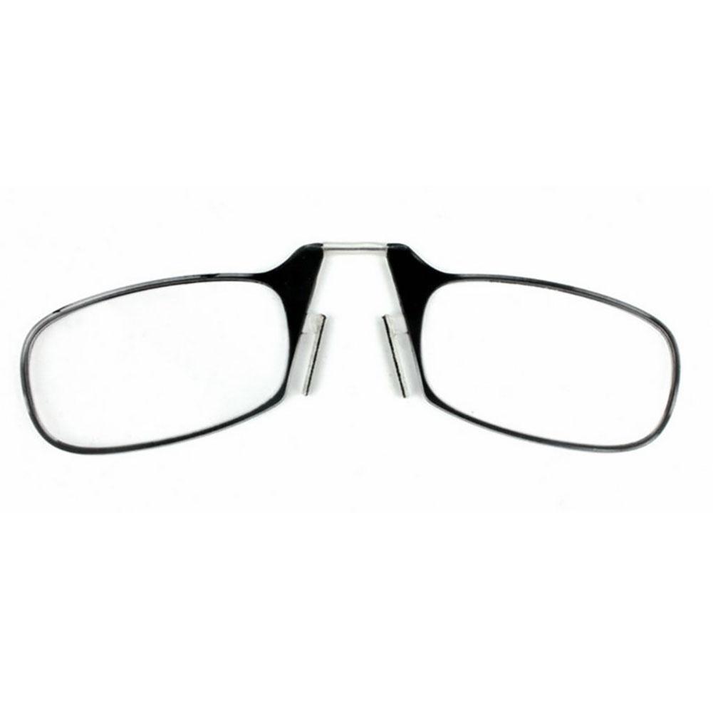 New Portable Mini Nose Clip Reading Glasses with Case 1.5 2.0 2.5