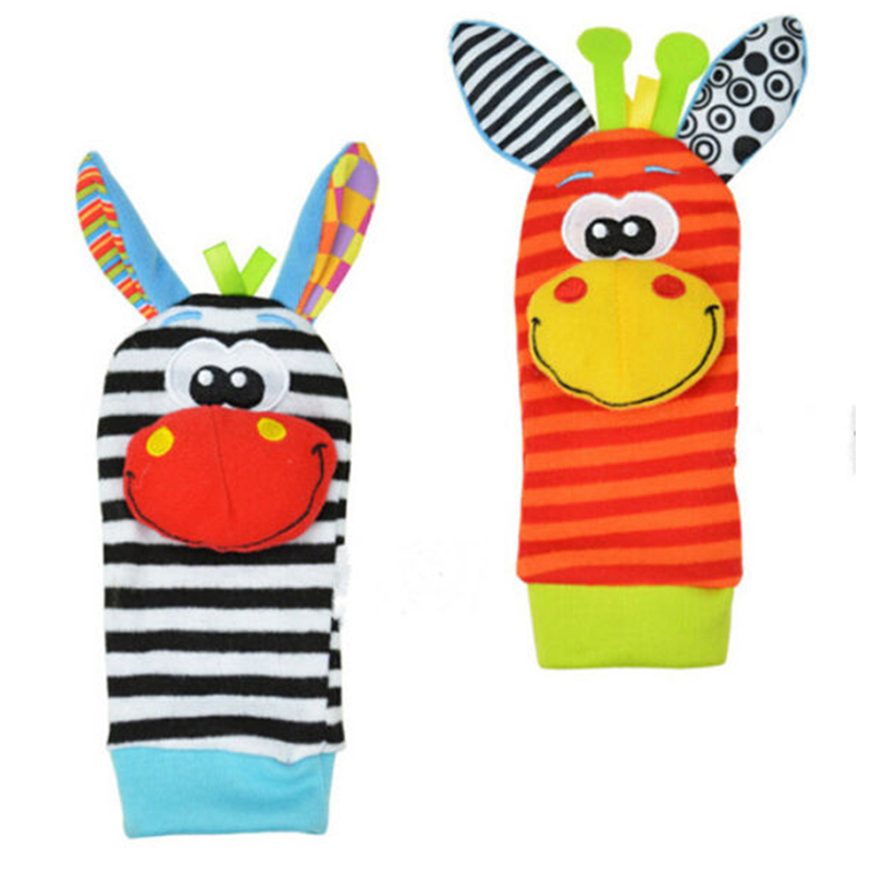 1pc Baby Infant Kids Sock Rattles Toys Developmental Soft Cute Animal