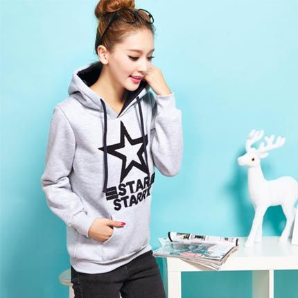 Sweater women spring and autumn plus velvet thickening hooded head short student loose coat long sleeve clothes baseball uniform autumn