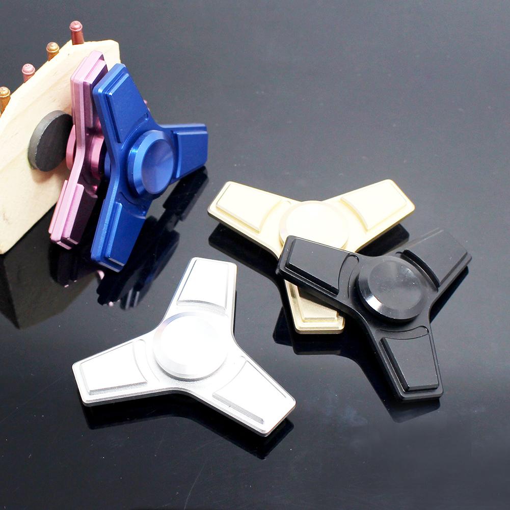 Tri Fidget Alloy EDC Hand Spinner Toys Focus on Stress Toys Finger Desk Games