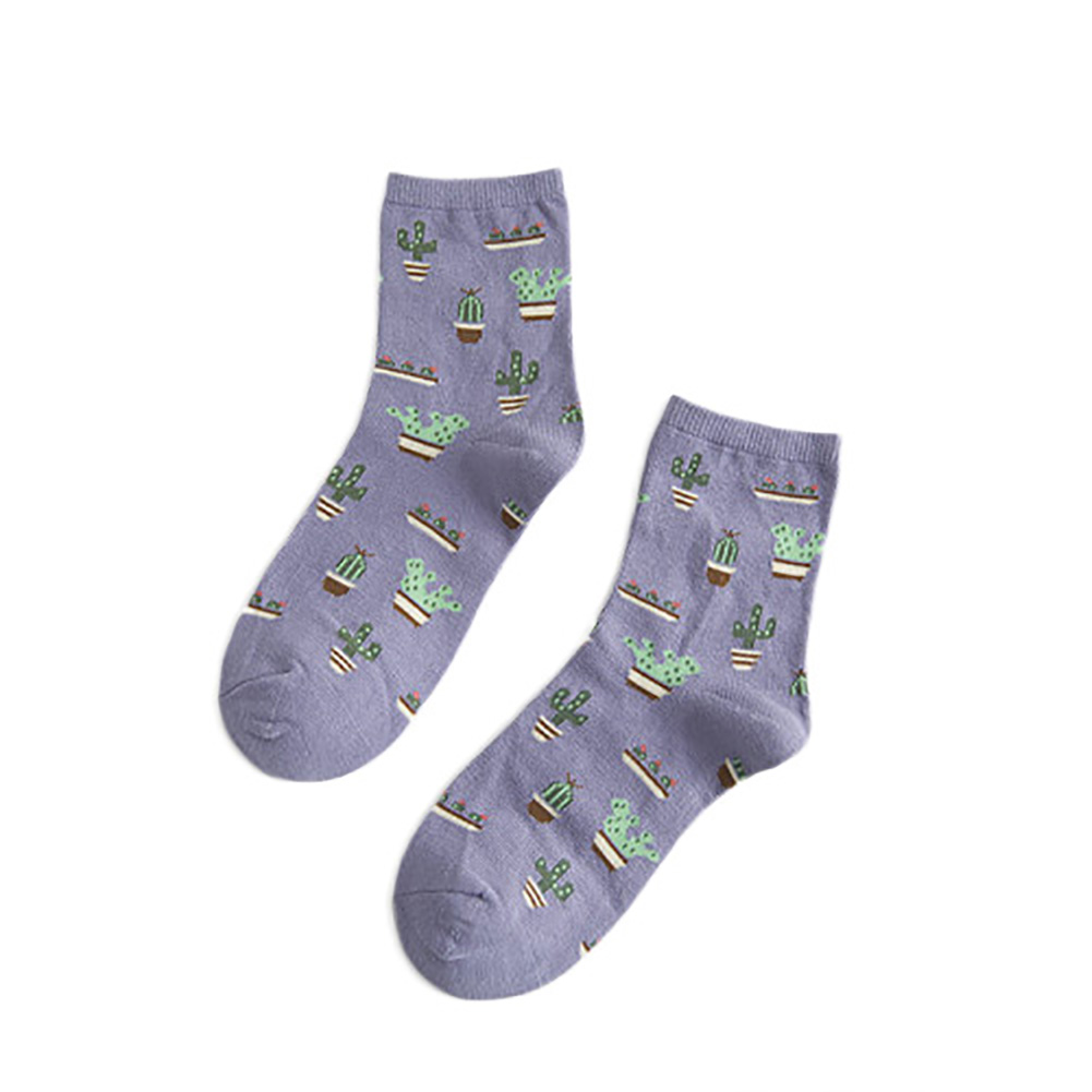 Fashion Women Girls Cotton Socks Ankle Socks Korean Style Cactus Sock