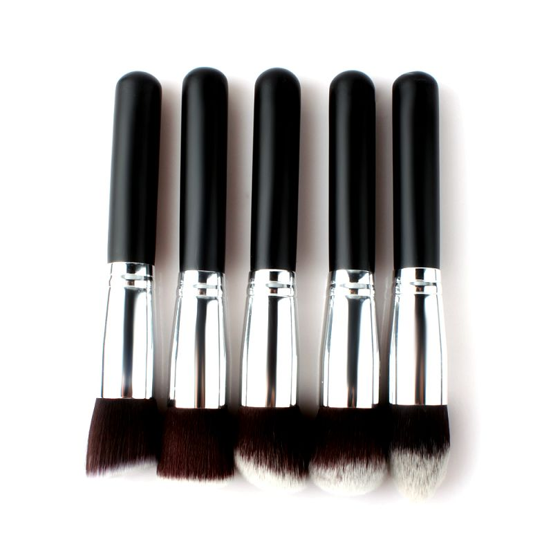 8Pcs Silver Professional Soft Synthetic Cosmetic Blending Foundation Makeup Brushes Set