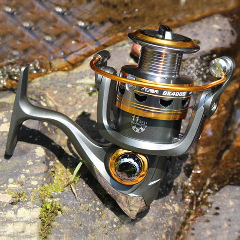 11BB Ball Bearings Spinning Saltwater Sea Fishing Reel Speed Gear Spool DK1000