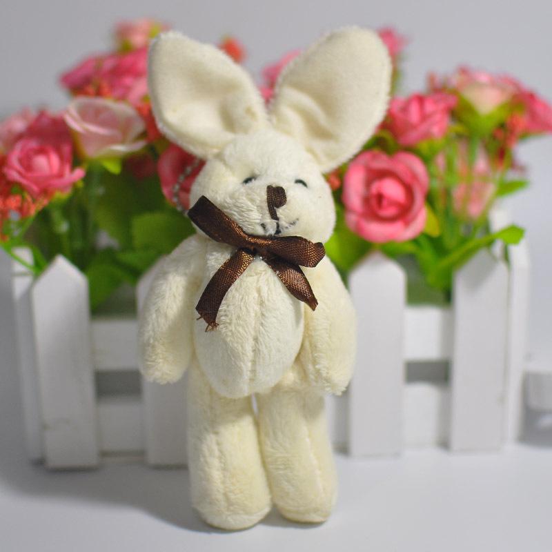 1 pcs 14cm Cute Rabbit Plush Toy Wedding Gift Pendant Doll