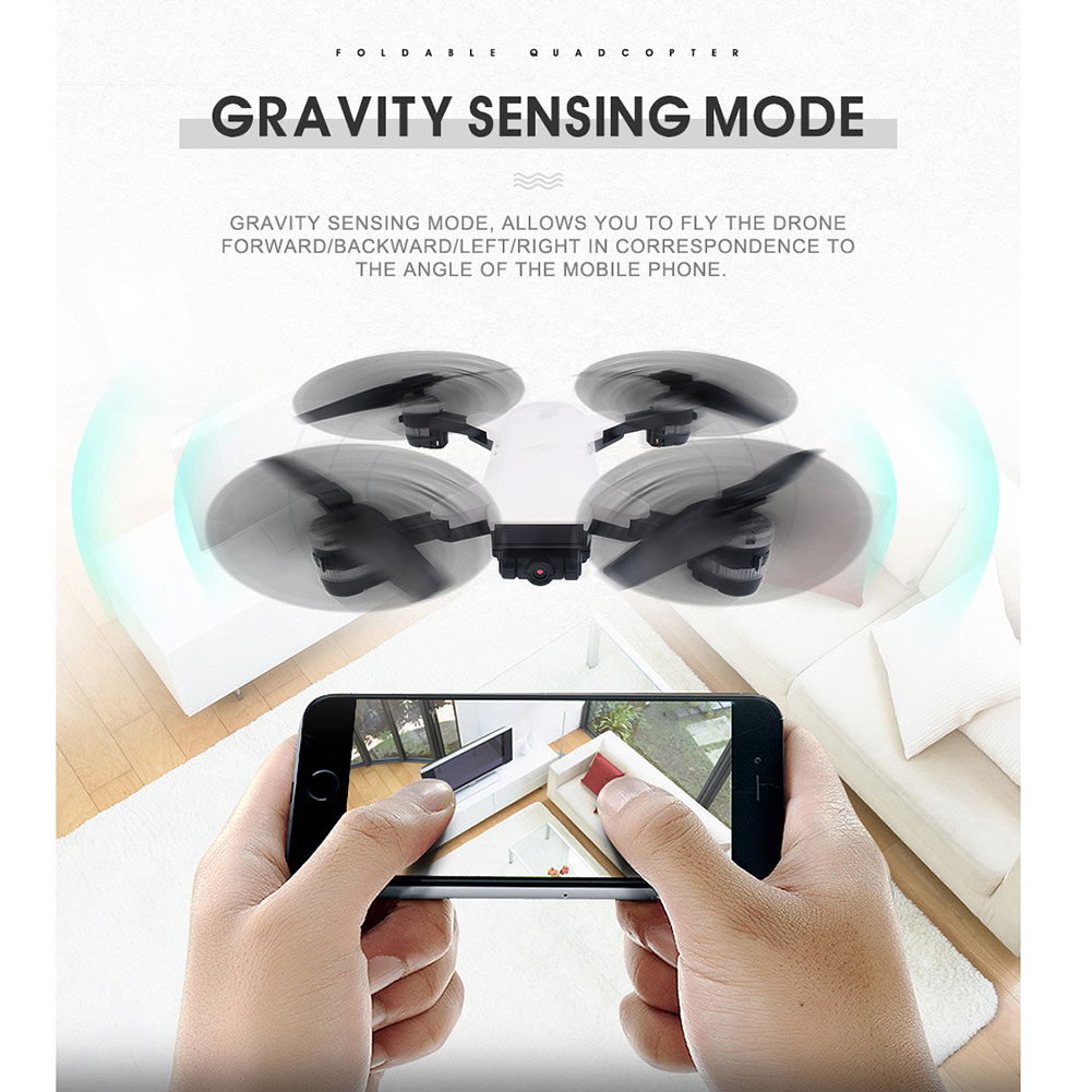 YH-19HW Foldable 2.4G 6-Axis Quadcopter 2.0MP HD WIFI FPV Wide Angle Camera Drone Toys Gift