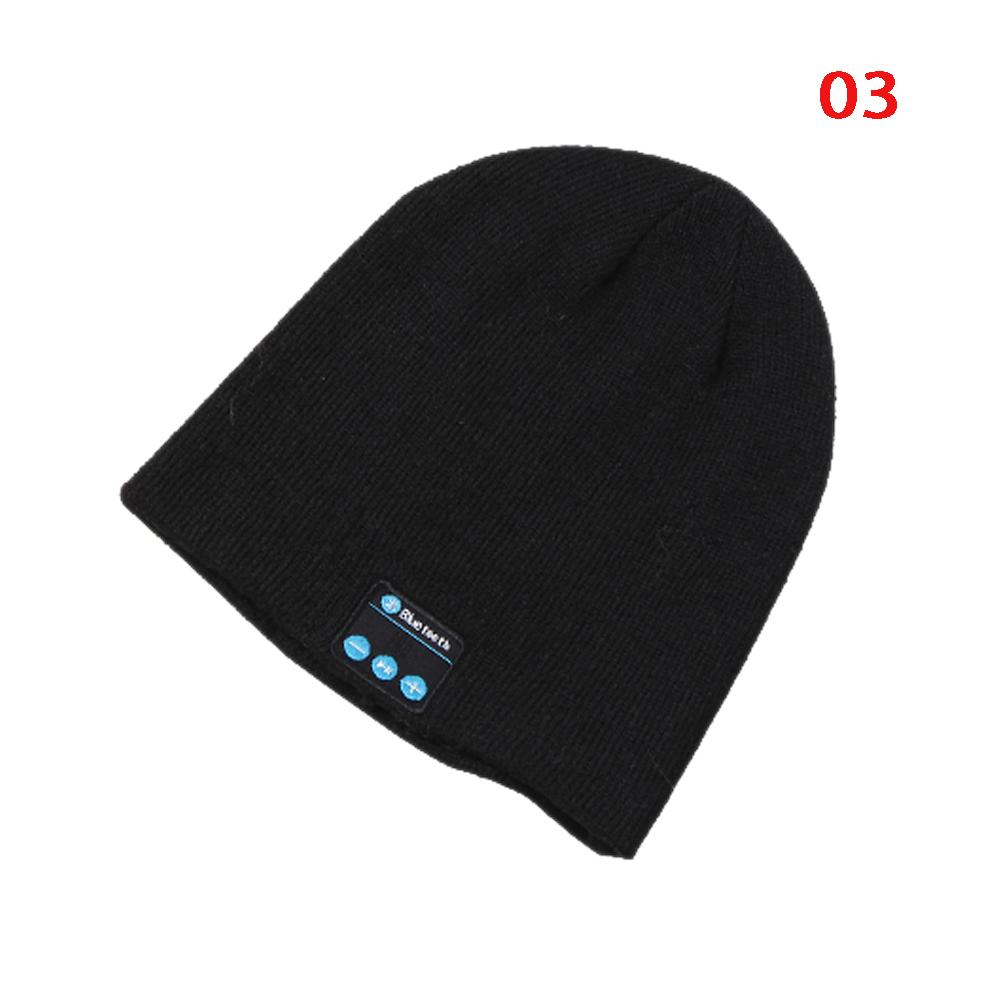 New Fashion Warm Beanie Hat Wireless Bluetooth Smart Cap Headphone Headset 10 Colors