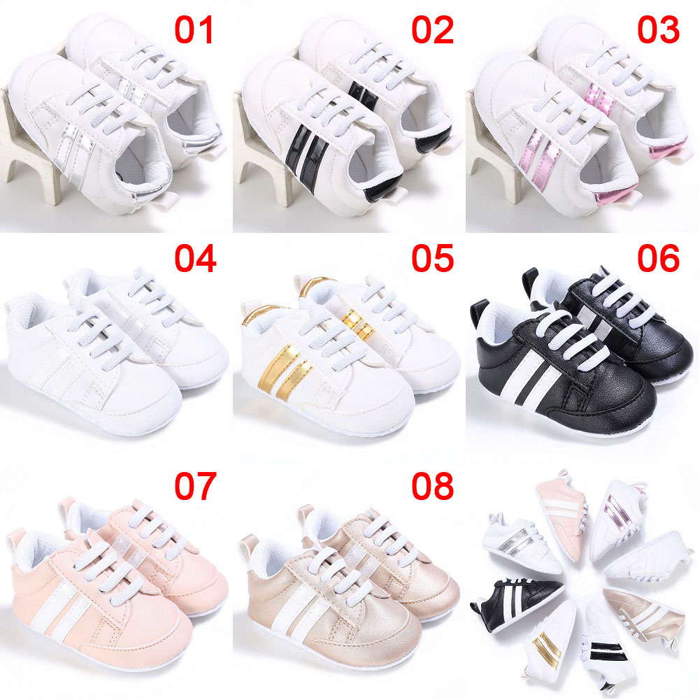 Baby Shoes Soft Bottom PU Leather Shoe For Infant Toddler Boys Girls