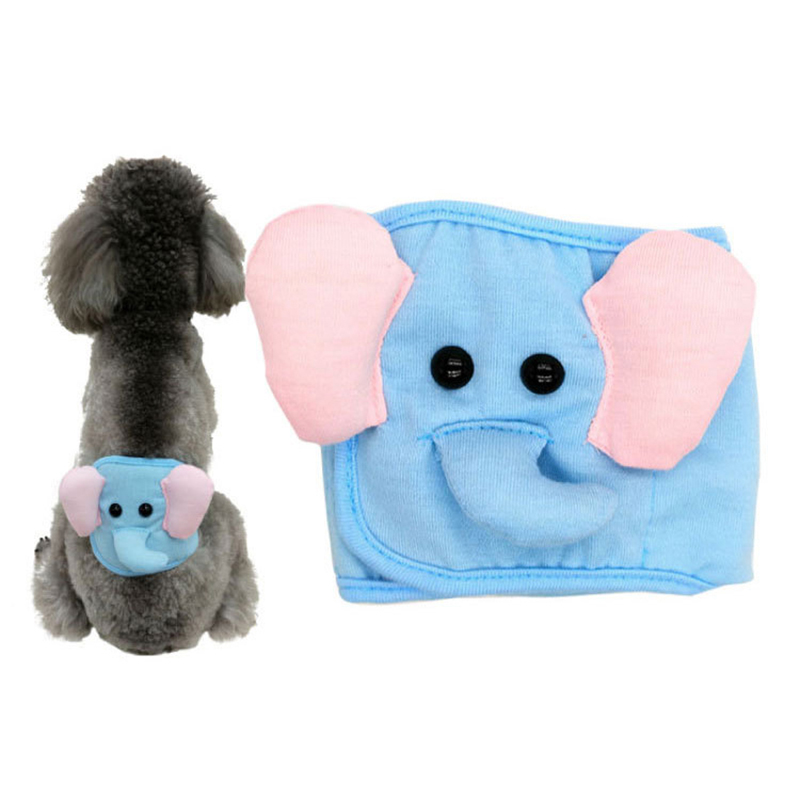Dog Diaper Male Washalbe Elephant Bear Dog Wraps Doggy Pants Pet Underwear