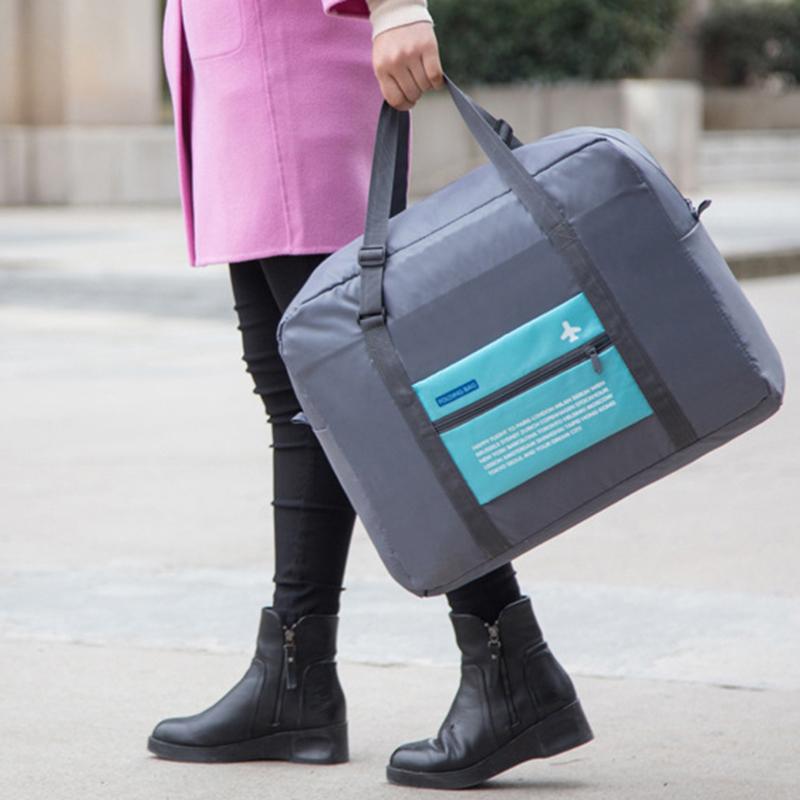 Foldable Portable Nylon Zipper Underwear Cosmetics Storage Bags For Clothes Travel Pouch Luggage Organizer Tidy Box
