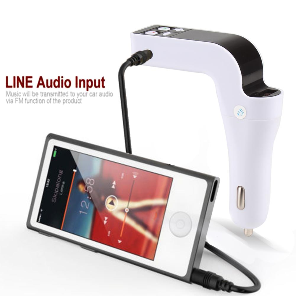 USB LCD Wireless Bluetooth FM Transmitter Car Charger Kit Radio MP3 Music Player