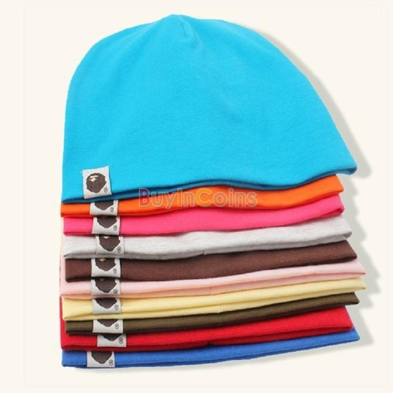 New Unisex Baby Cnady Color Hat Cap Boy Girl Toddler Infant Cotton Soft Cute