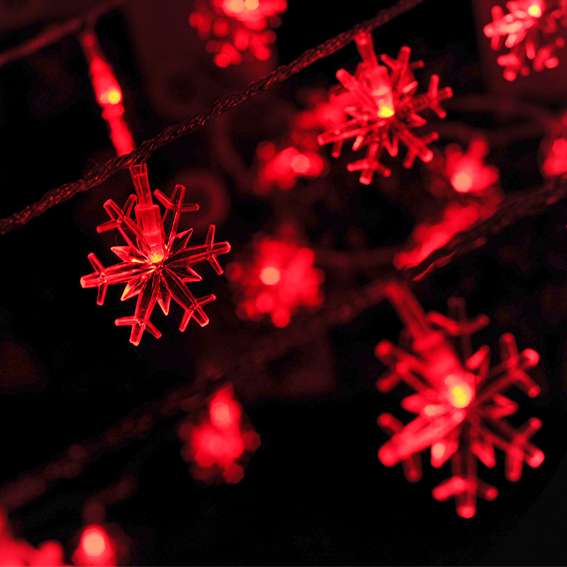 100 LED String Snow Christmas Lights Outdoor Garden Xmas Wedding Lamp 10m Decor Plug