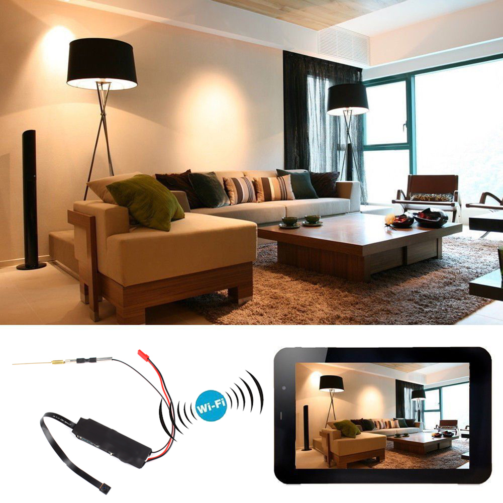 Wireless WiFi Full HD 1080P Hidden Camera DIY Module DV DVR Motion Nanny Cam