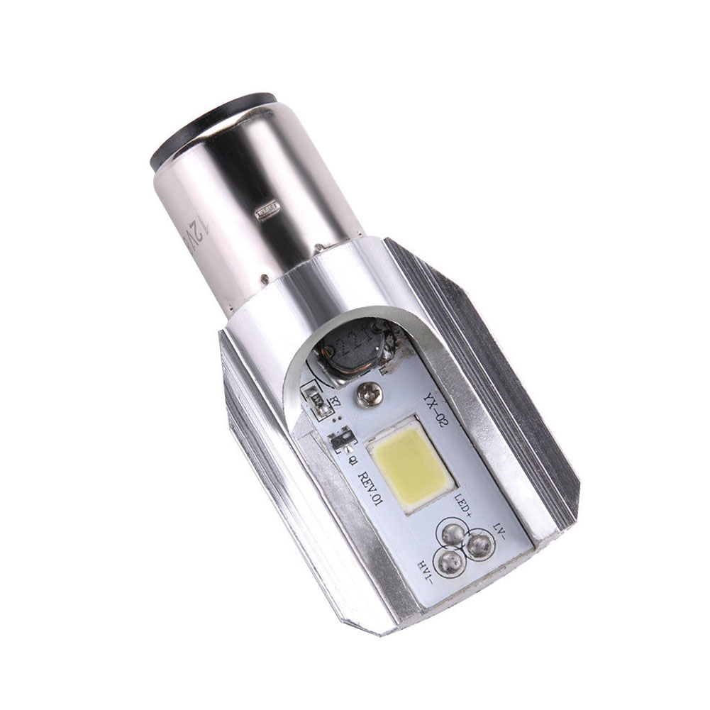 H6 12W Motorcycle 6500K COB LED Hi/Lo Beam Headlight Bulb White BA20D DC 6V-80V