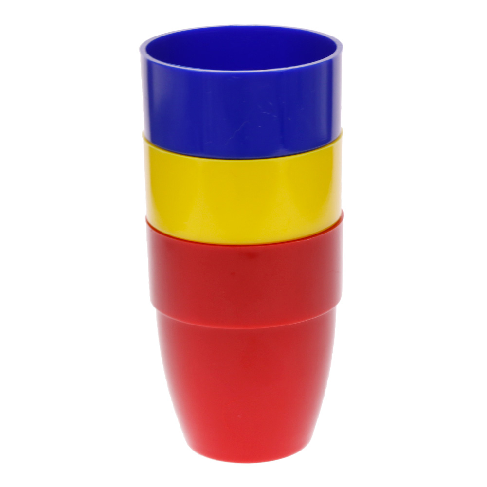 3PCS Colorful Magic Cups Close-up Trick Magician Toys with 4pcs Balls