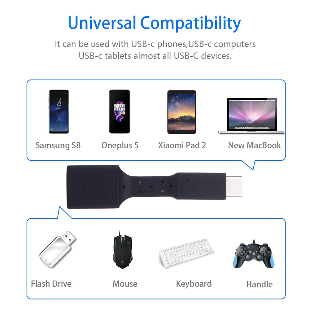 USB-C 3.1 Type C Male to USB 3.0 Cable Adapter OTG Data Sync Charger Charging For Samsung S8 Plus