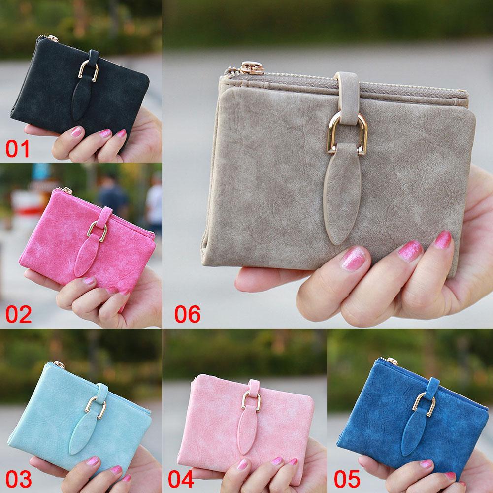 Lady Short Wallet Clutch Rrtro Fashion Women's Wallet Women's Purse Small Short Coin Card Holder