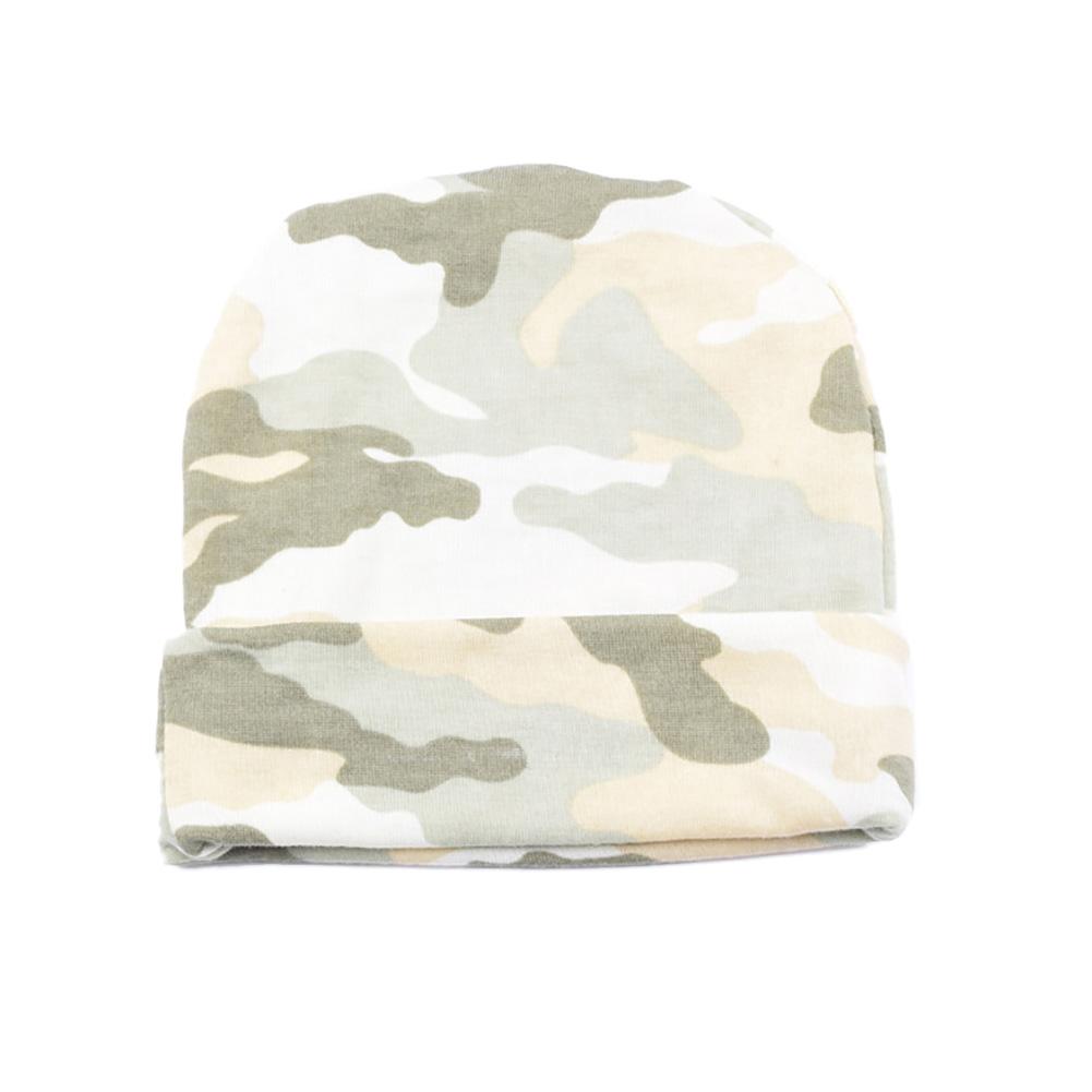 Newborn baby girl camouflage printed cute hat caps girls beanies headwear