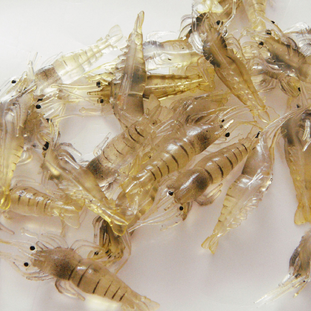 4 cm Bait Soft Shrimp Simulation Grass Shrimp Environment - friendly Plastic Fishy Smell Luring Effect Good Fishing Gear