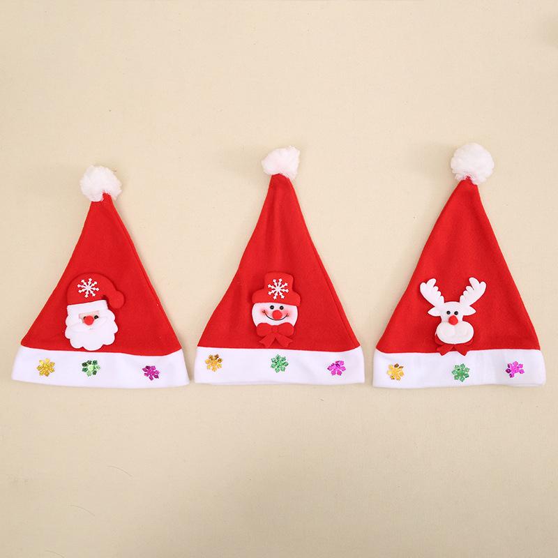 Lovely Christmas Caps Christmas Decor Children Hat Santa Claus Mini Santa Hat