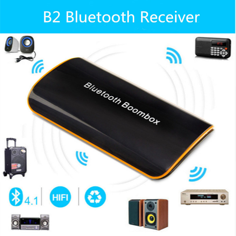 B2 Stereo Wireless Bluetooth Audio Receiver HIFI Boombox Speaker for iPad PC Phones Tablets
