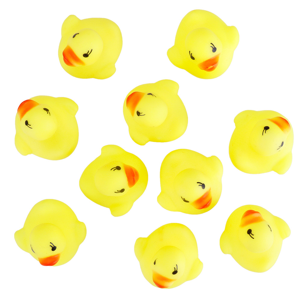 10/20pcs Rubber Duck Ducky Duckie Baby Shower Birthday Party Favors Toys