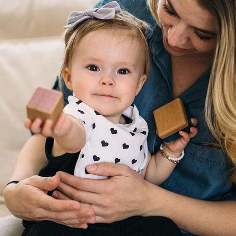 1Pcs Infant Baby Unisex Feeding Saliva Towel Dribble Triangle Bibs