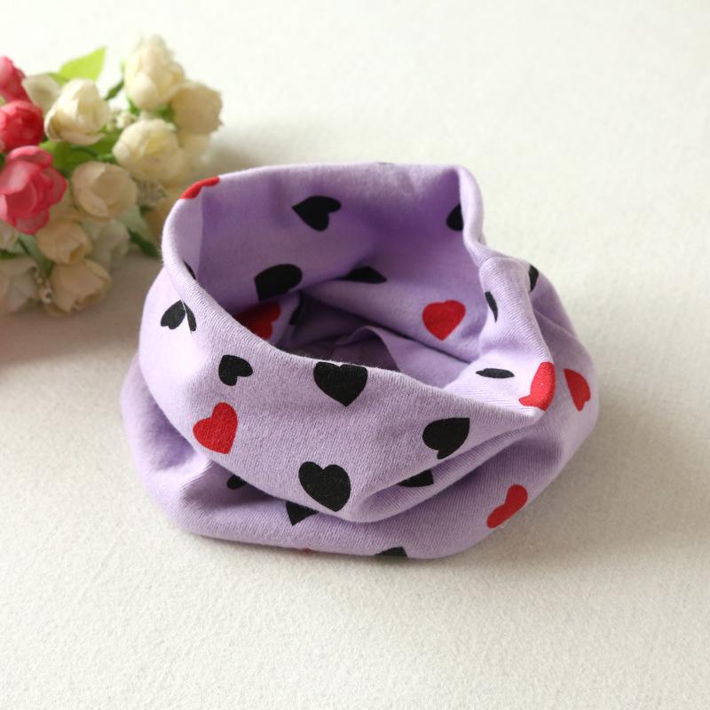 New Winter Baby Cute Cotton HeartDesign Kid Warm Scarf Collars Children Scarves