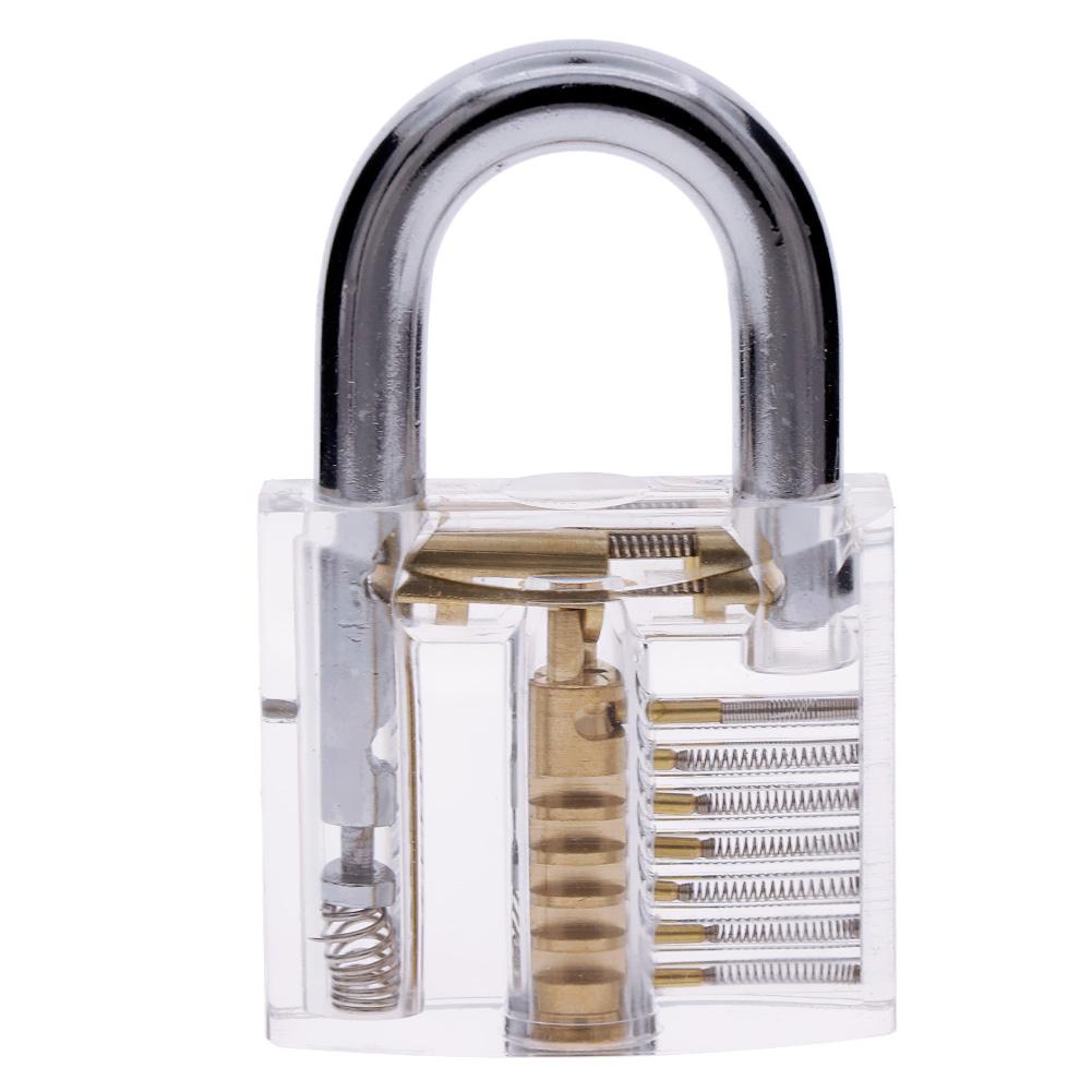 24PCS Single Hook Lock Pick Set Transparent Locksmith Practice Tools Kit