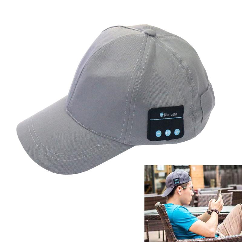 Wholesale Baseball Cap Wireless Sport Bluetooth Headset Music Sun Hat Headset Headphone Earphones Speaker Mic